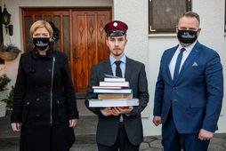 Frá vinstri: Hildur Ingvarsdóttir, Pétur Lúðvík Marteinsson og Atli Erlingsson.