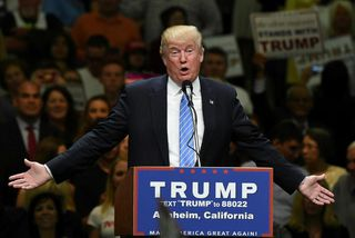 Donald Trump forsetaframbjóðandi.
