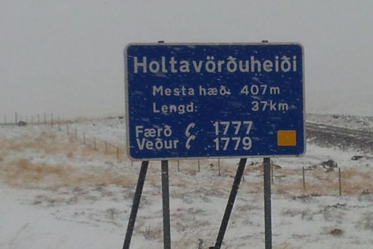 Holtavörðuheiði, the number one road between South and North Iceland is difficult to pass due ...
