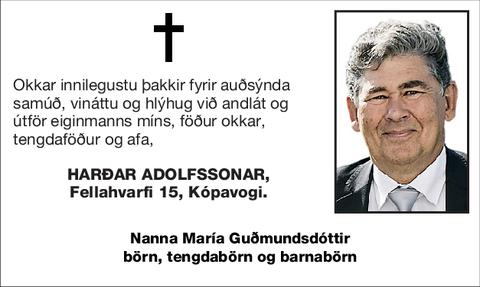 Harðar Adolfssonar,