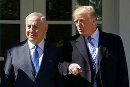 Netanyahu heimsótti Trump í Hvíta húsið í dag.