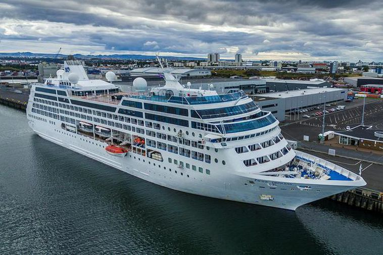 The Pacific Princess arrived in Reykjavik yesterday.