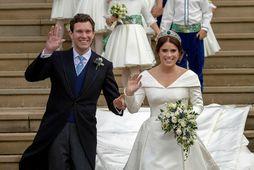 Eugenie prinsessa og Jack Brooksbank eignuðust son í gær.