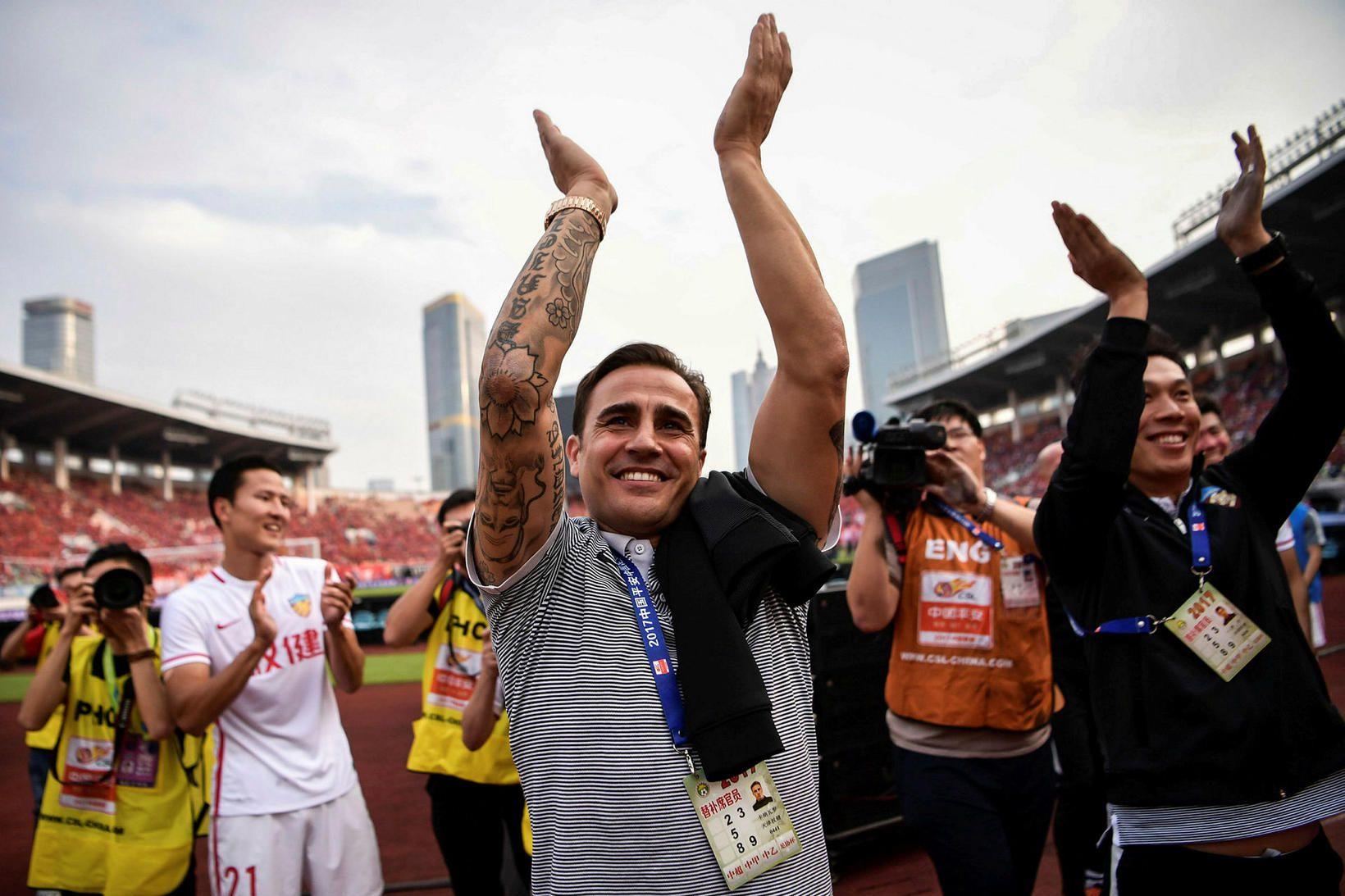 Fabio Cannavaro hefur búið í Kína frá árinu 2016.