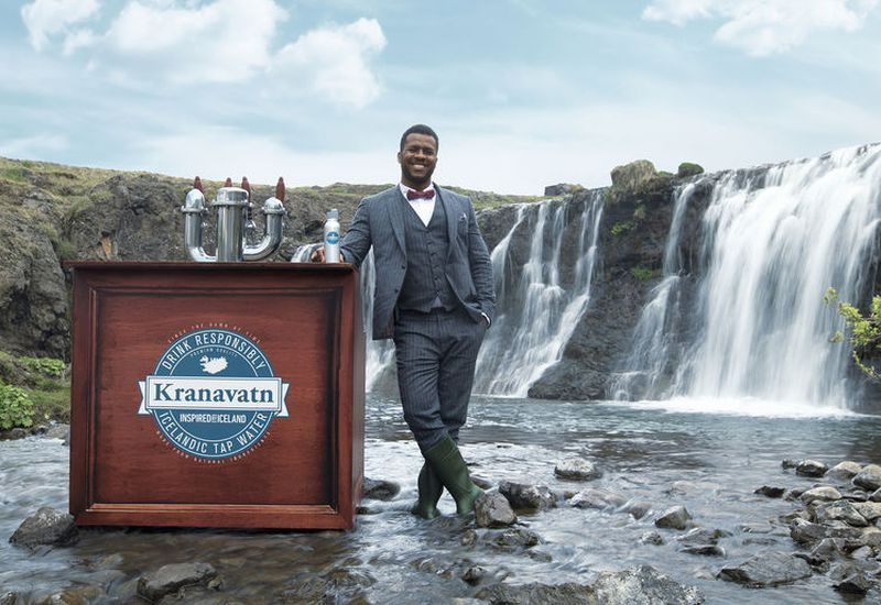 Bar owner, dance instructor and photographer George Leite, in an ad for Promote Iceland.