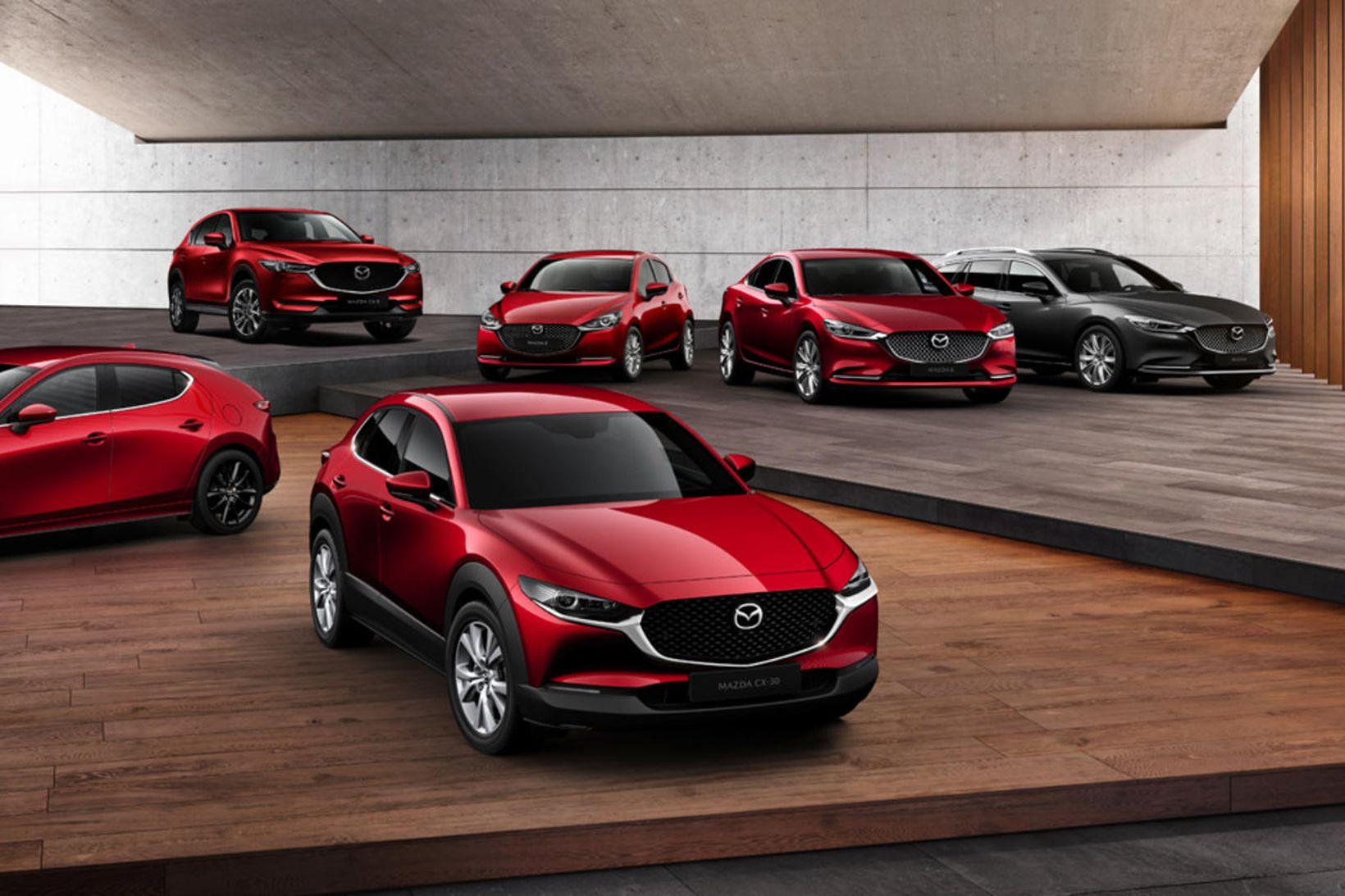 Bílalína Mazda í ár, 2020.