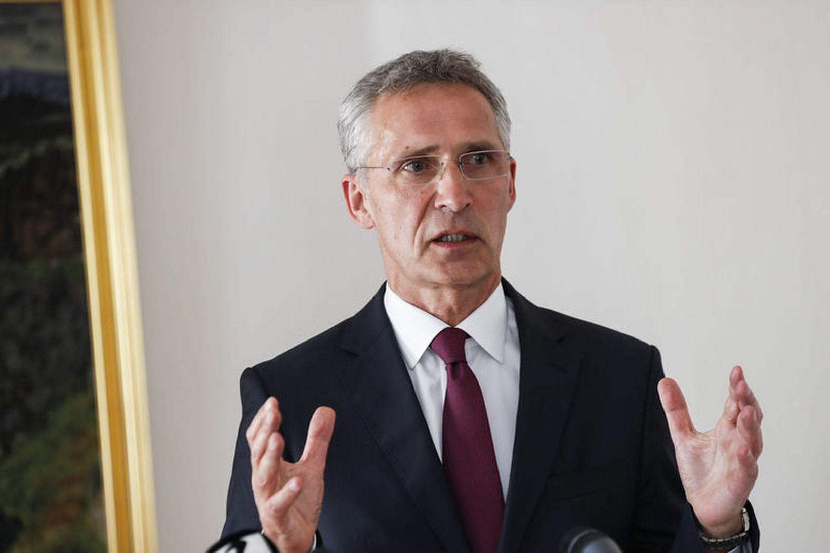 Framkvæmdastjóri NATO, Jens Stoltenberg, sagði aðildarríki NATO geta virkjað fimmtu …