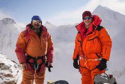 Muhammad Ali Sadpara og John Snorri Sigurjónsson í hlíðum K2.