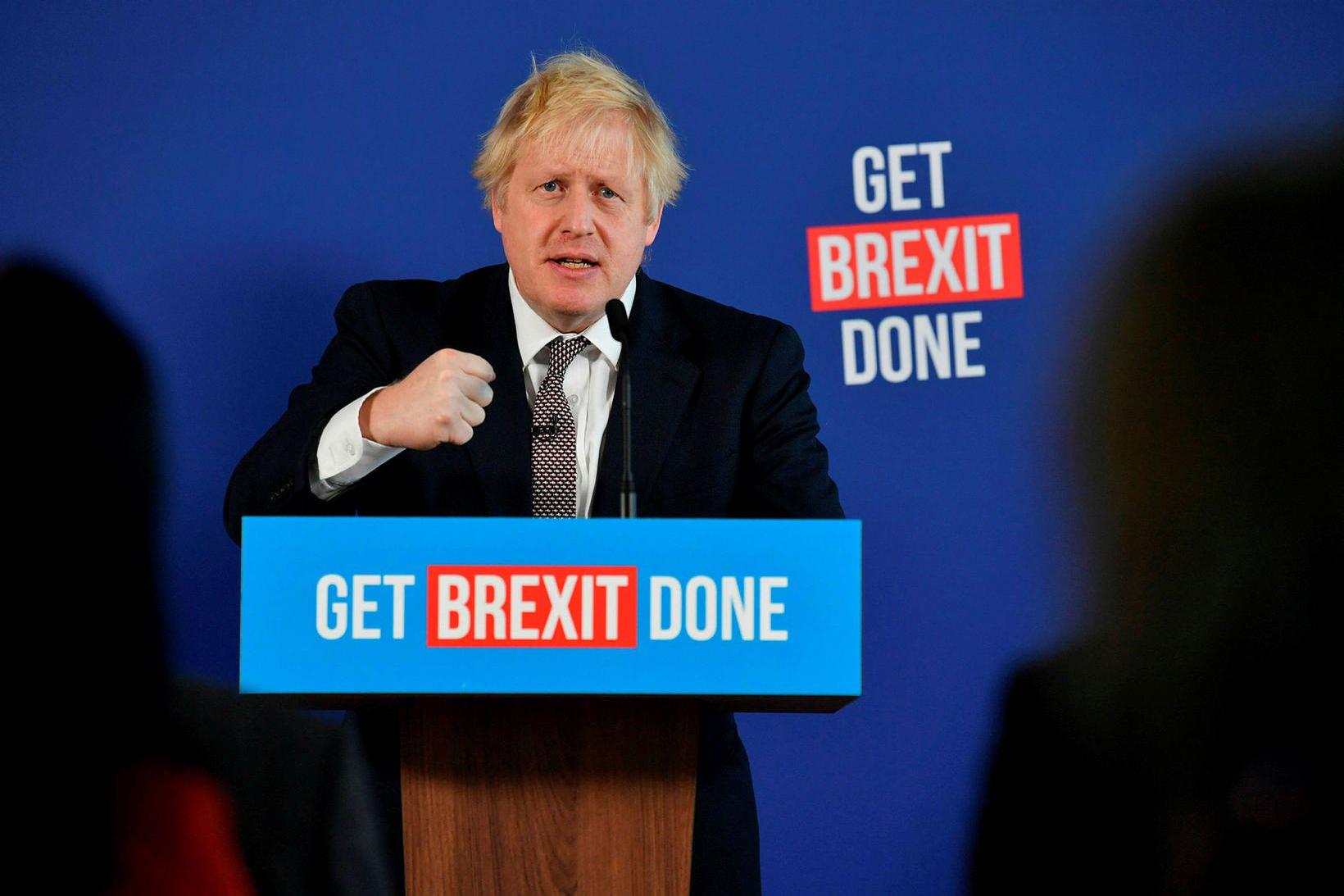 Boris Johnson leggur mikla áherslu á að klára Brexit en …