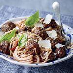 Spaghettí með kjötbollum og frábærri sósu