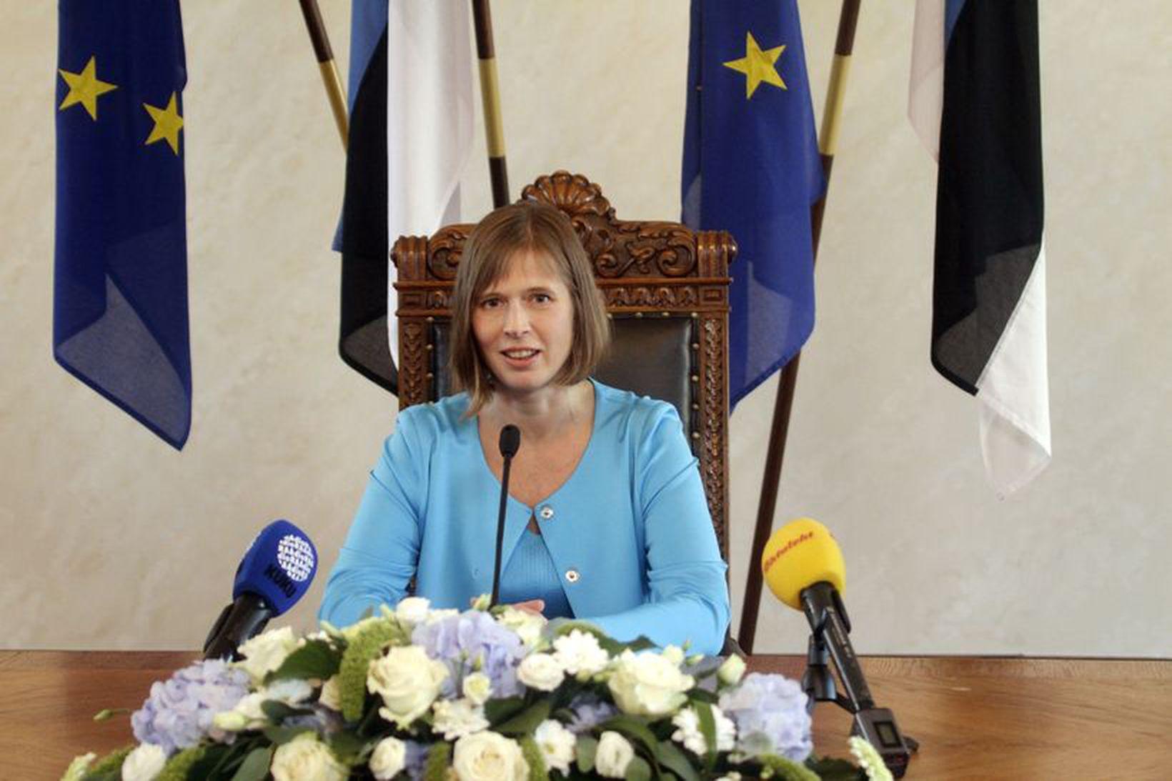 Kersti Kaljulaid er fyrsti kvenkyns forseti Eistlands.