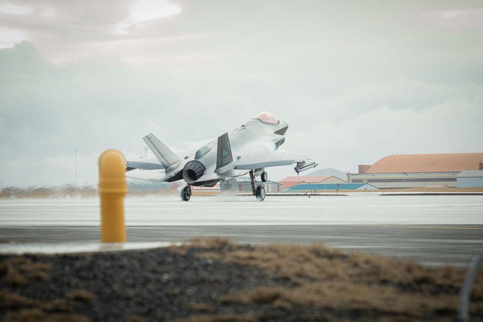Herþota norska flughersins af gerðinni F-35.