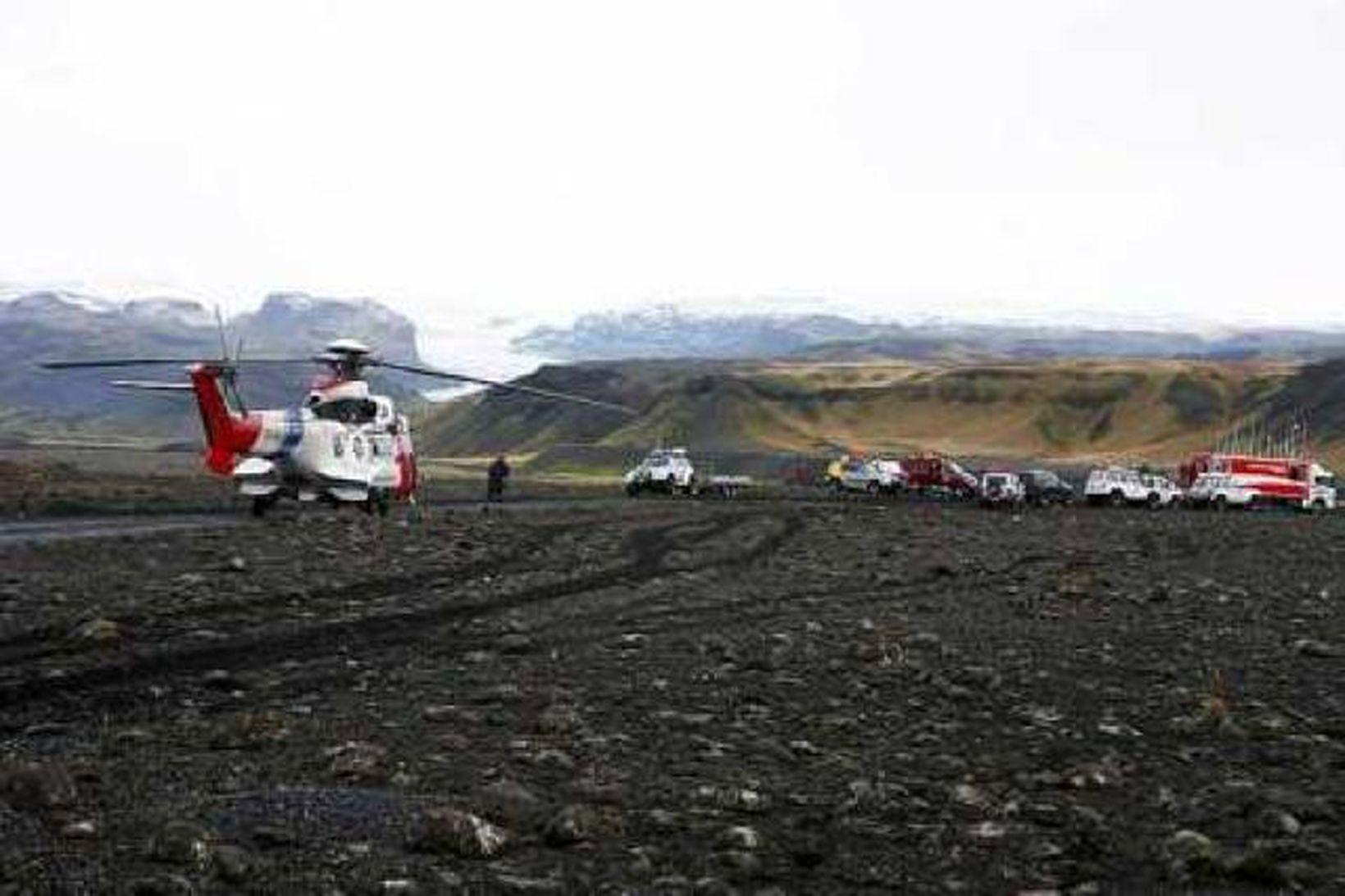 Leitin á Sólheimajökli er eitt af stærri verkefnum björgunarsveitanna á …
