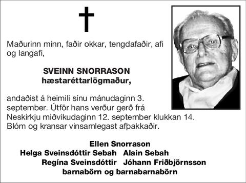 Sveinn Snorrason