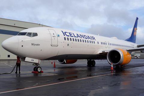 Boeing 737-MAX-flugvél Icelandair, Mývatn.