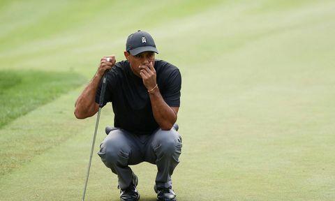 Tiger Woods náði sér ekki á strik
