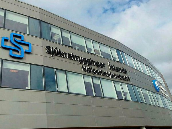 The Icelandic Health Insurance building.