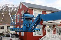 Lyftaramaður - mannlíf - Ísafjörður