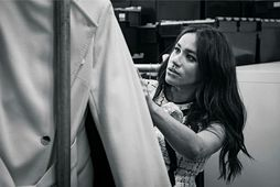 Meghan var gestaritstjóri breska Vogue í september.