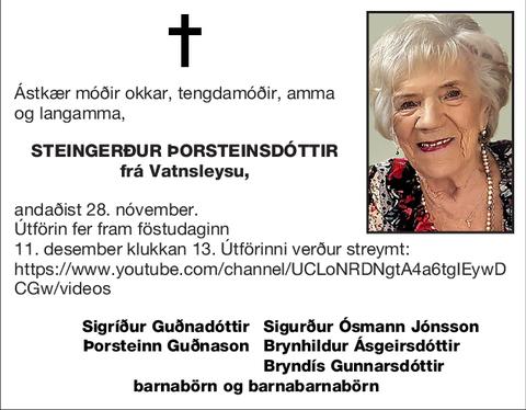 Steingerður Þorsteinsdóttir