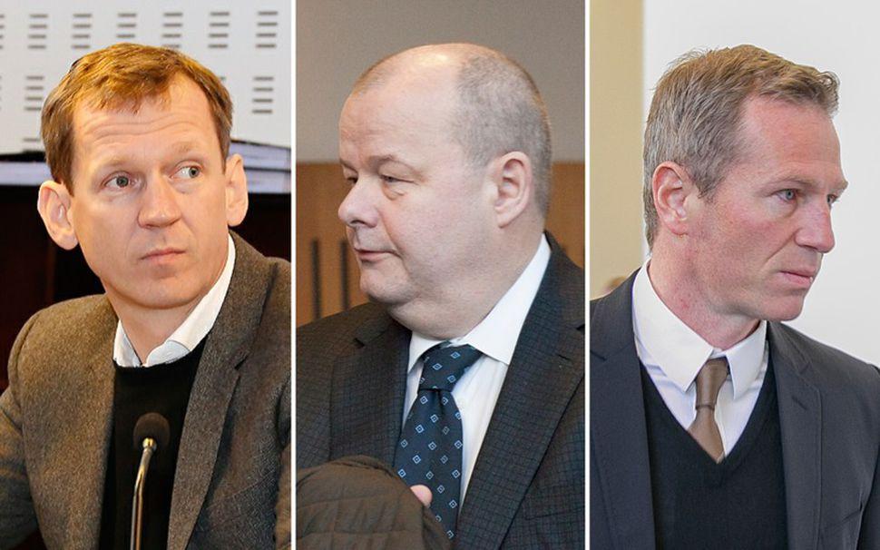 Hreiðar Már Sigurðsson, fyrrverandi forstjóri Kaupþings, Sigurður Einarsson, fyrrverandi stjórnarformaður ...