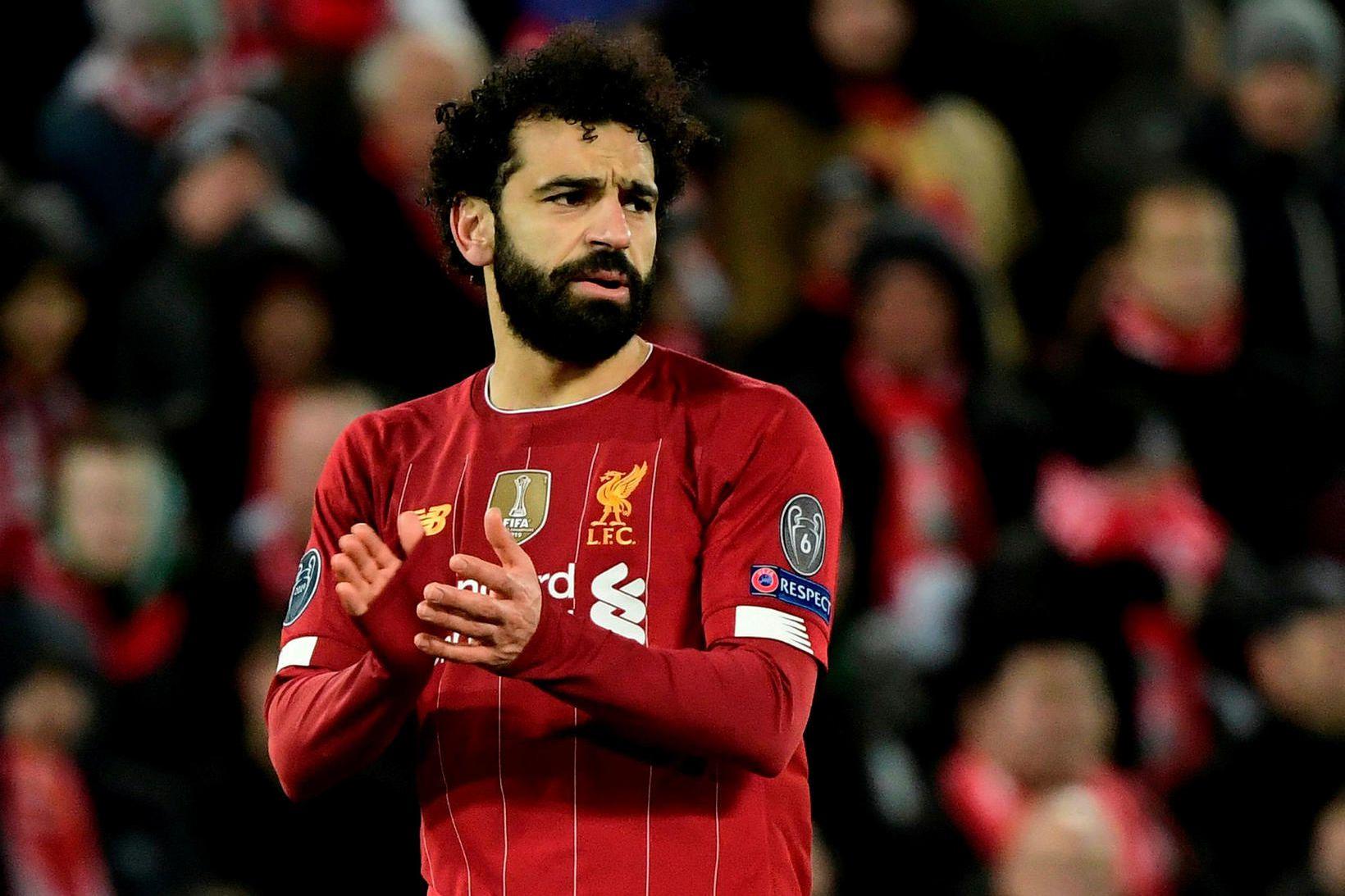Mo Salah og Liverpool eru með 25 stiga forskot á …