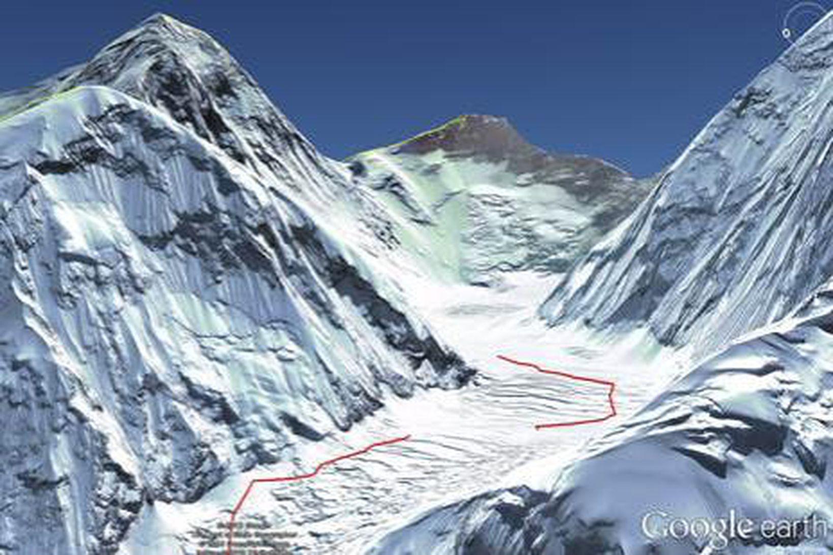 Frá Mt. Everest.