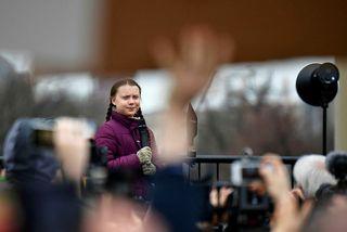 Sænski aðgerðasinninn Greta Thunberg.