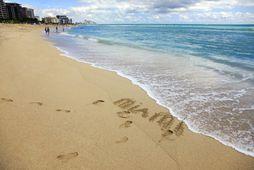 Ströndin á Miami er eitthvað sem enginn ætti að missa af í dag.