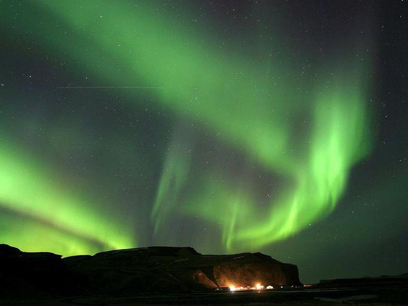 Norðurljósin eru alltaf jafnfalleg þegar þau sjást á himni.