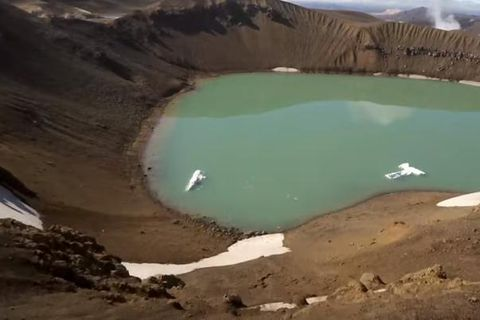The crater Víti in the highlands captured by The Drone Master