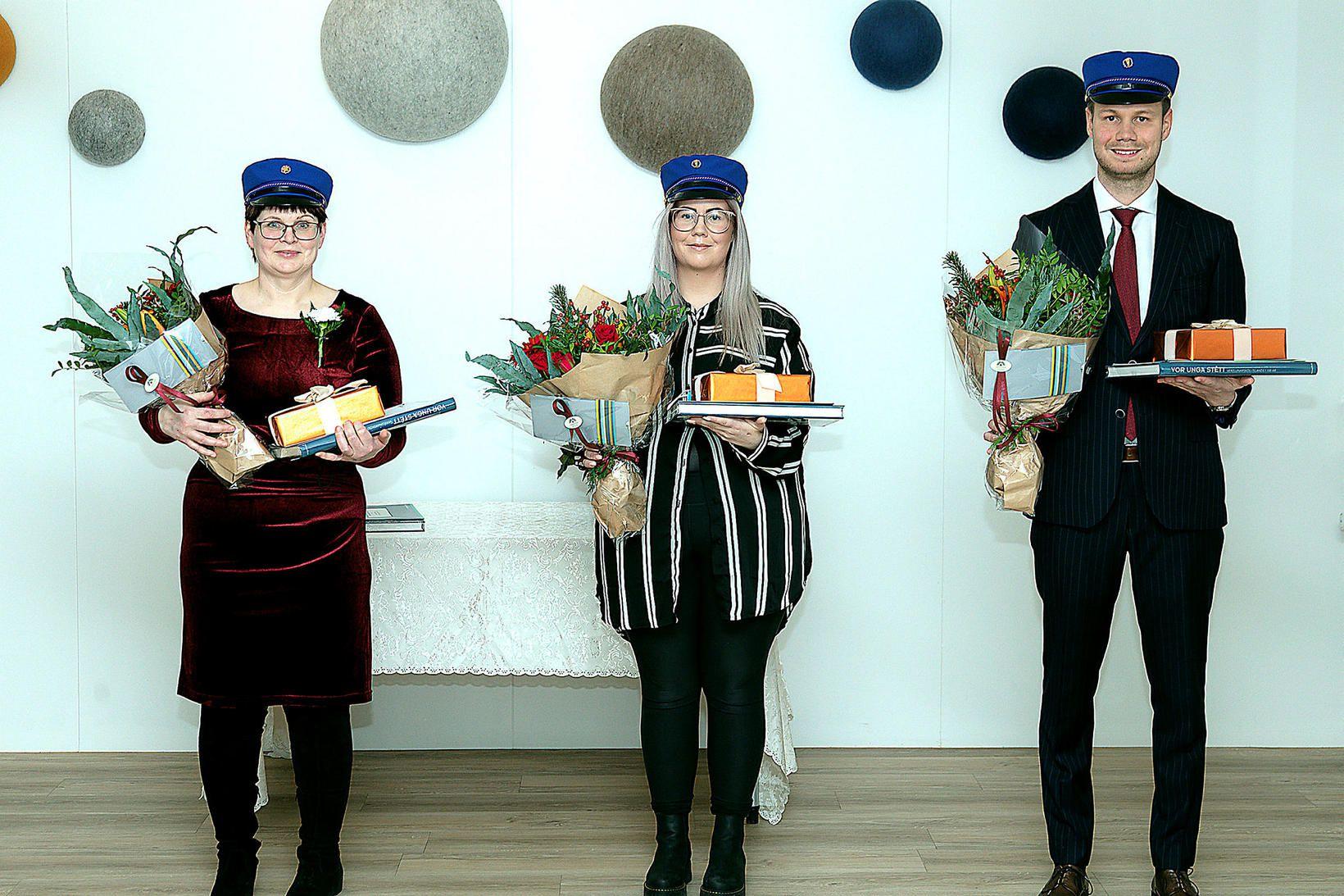 Jón Steinar Brynjarsson, Aðalbjörg Valdimarsdóttir og Sara Líf Fells Elíasdóttir …