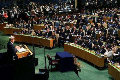 The United Nations Signing Ceremony for the Paris Agreement back in April.