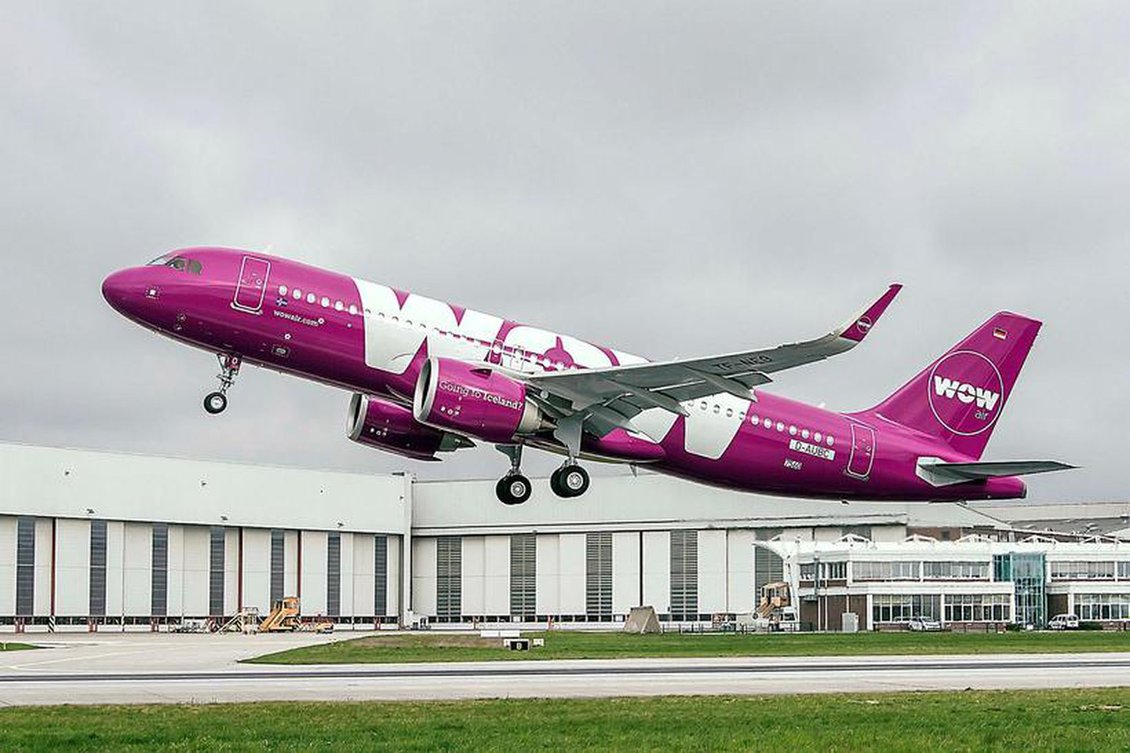 Nýja Airbus-vélin mun fljúga til Ísrael.
