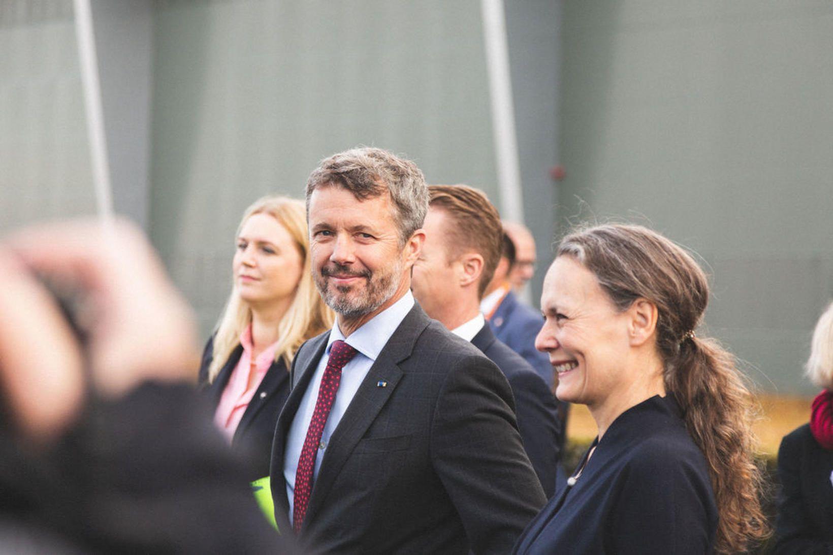 Friðrik krónprins Danmerkur heimsótti Hellisheiðarvirkjun Orku náttúrunnar í dag.
