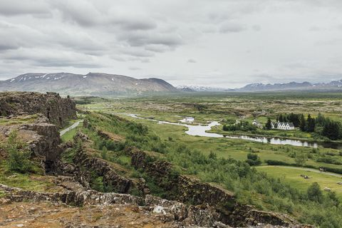 Þingvellir, the site of the ancient Icelandic Parliament, appears frequently in stories such as Njal's Saga.