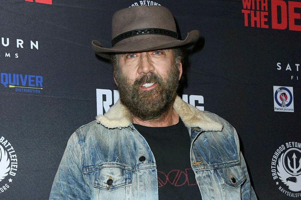 Nicolas Cage á frumsýningu í Beverly Hills þann 16. september.