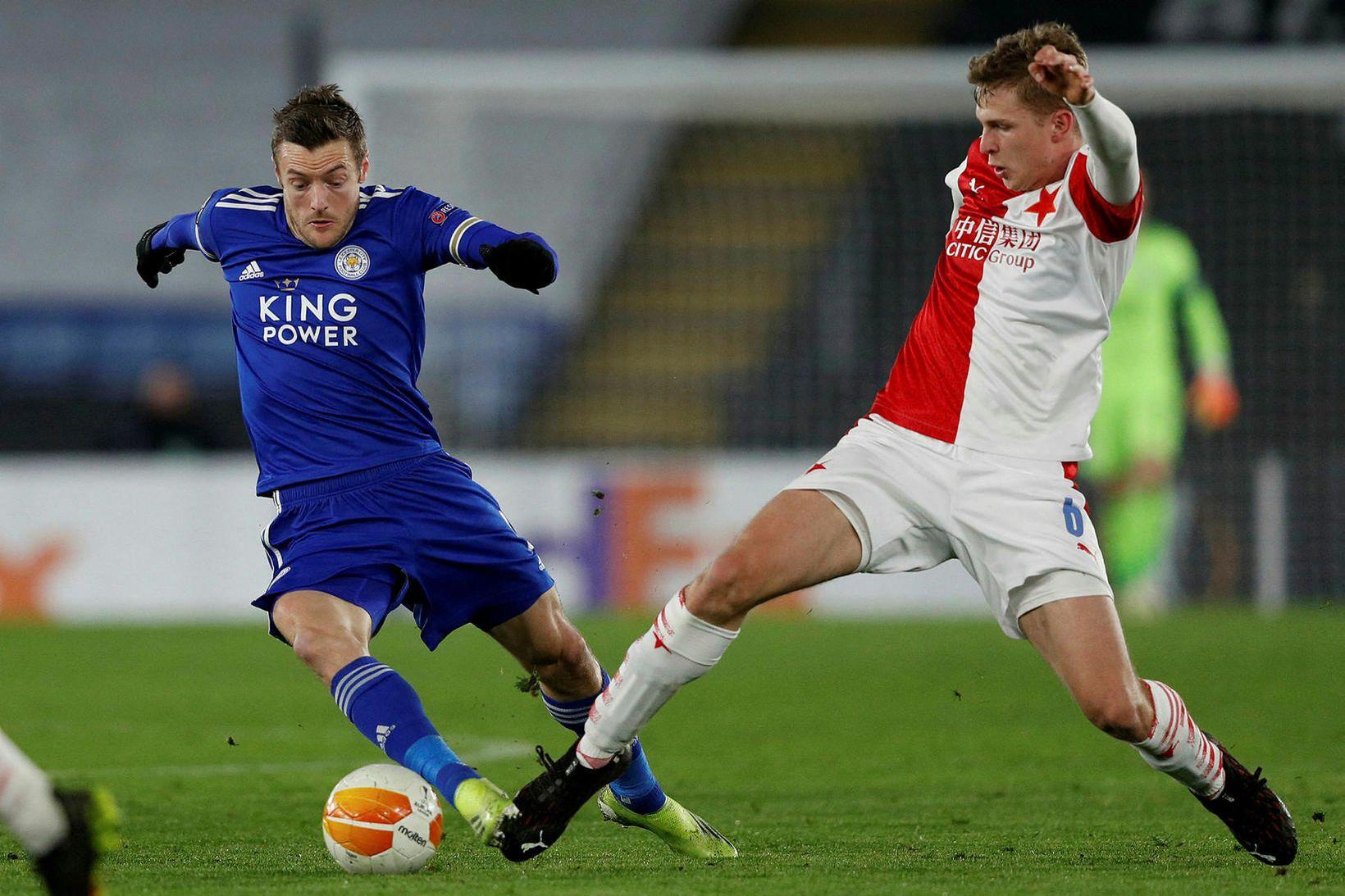 Leicester er úr leik eftir tap gegn Slavia Prag.