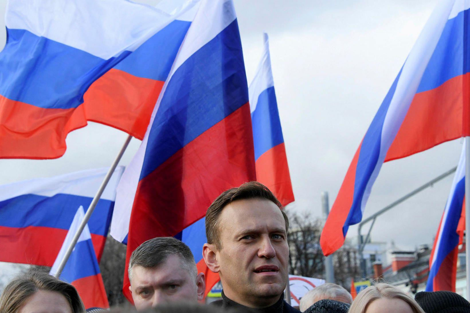 Alexei Navalní á góðri stundu fyrr á árinu.