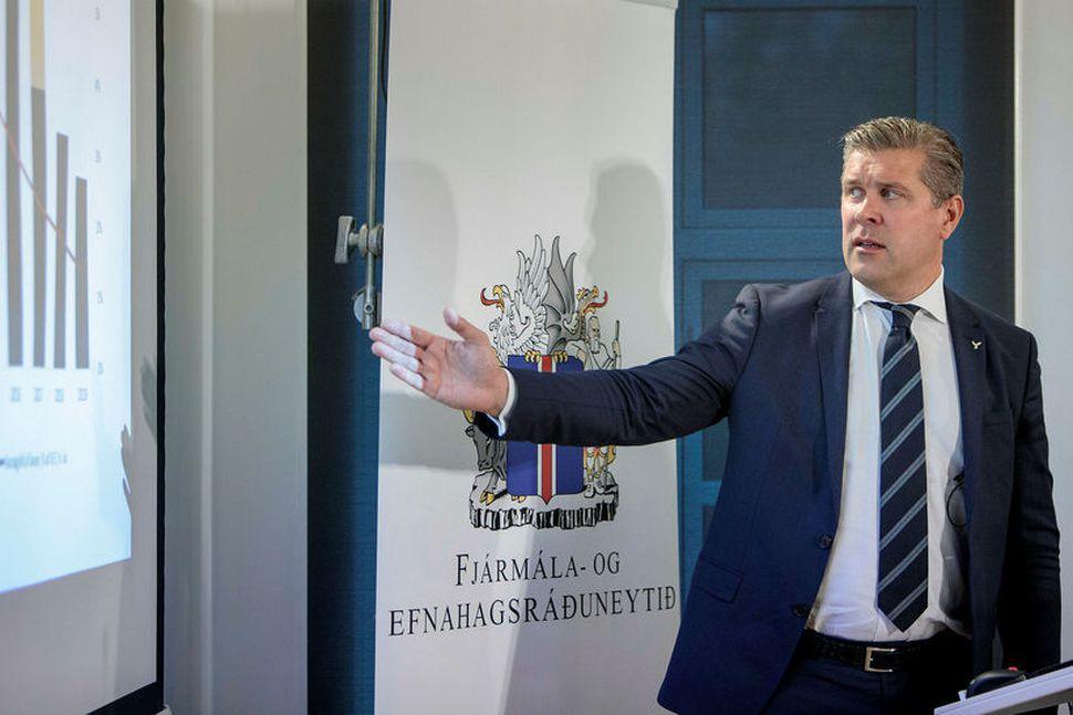 Bjarni Benediktsson fjármálaráðherra kynnir fjárlagafrumvarp 2019.
