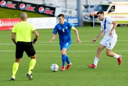 Kolbeinn Þórðarson í leik með U21-árs landsliðinu gegn Grikklandi í síðasta mánuði.