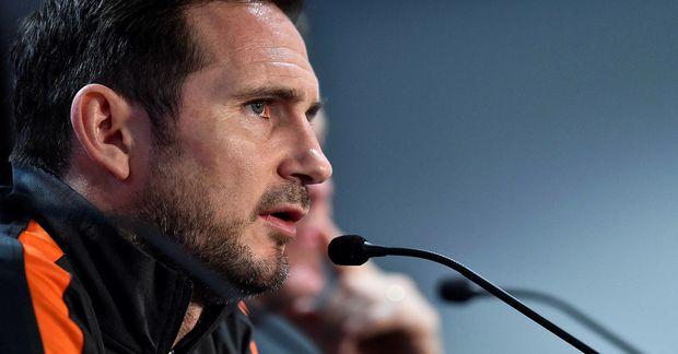 Frank Lampard fór yfir málin hjá Chelsea á fréttamannafundi í gærkvöld.