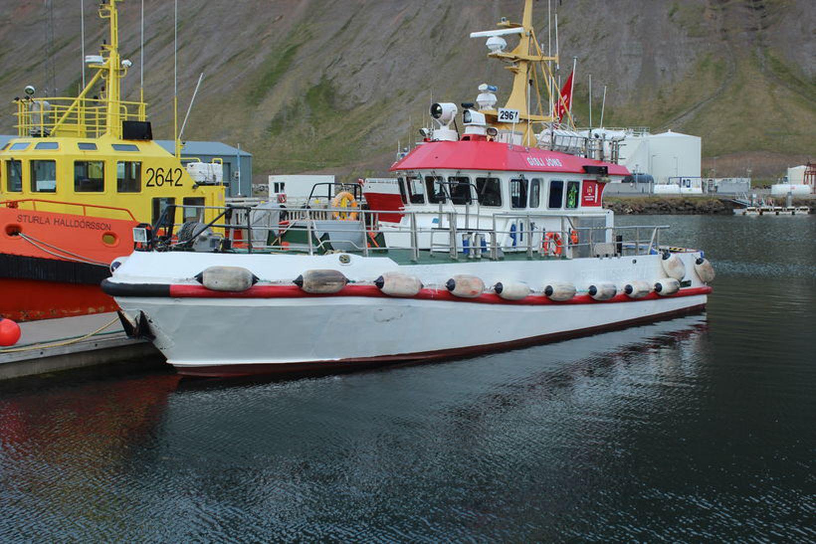 Gíslí Jónsson björgunarskip á Ísafirði.