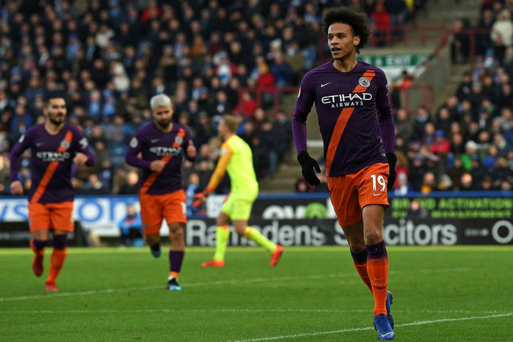 Leroy Sané átti mjög góðan leik fyrir Manchester City og …