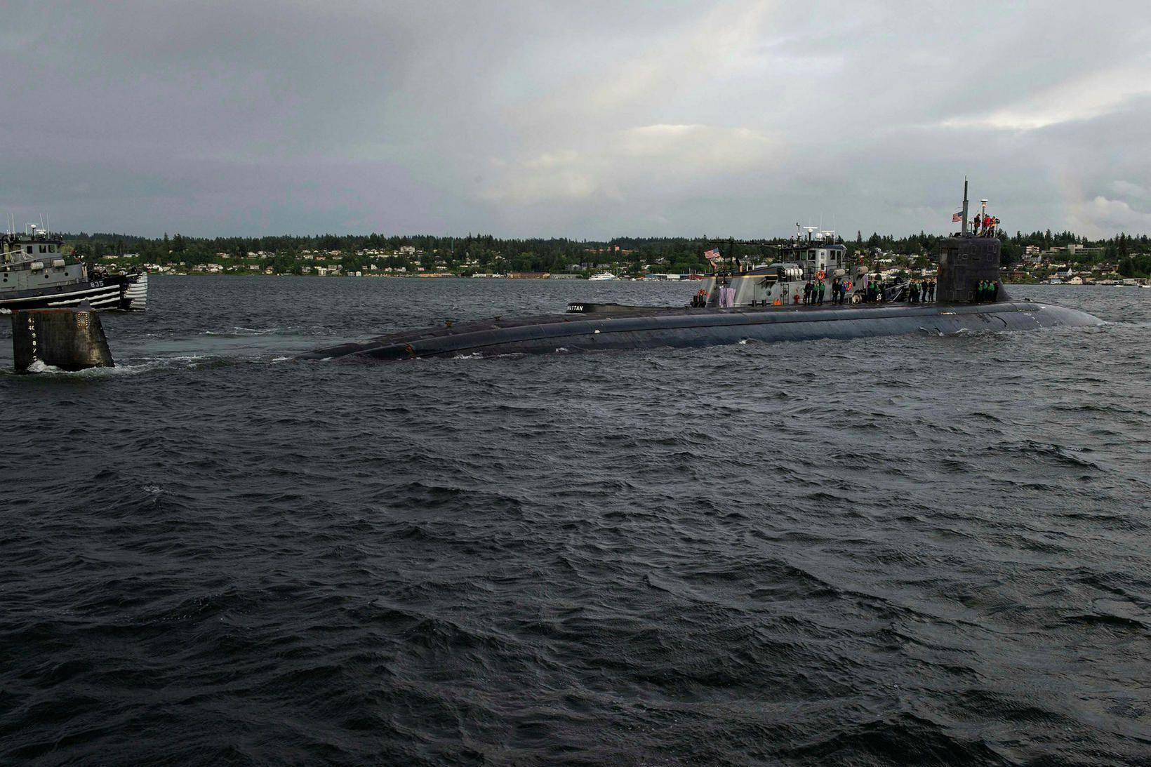 USS Connecticut. Mynd úr safni.