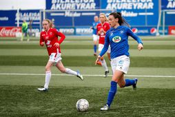 Katrín Ásbjörnsdóttir í leik með Stjörnunni gegn Val fyrir þremur árum.