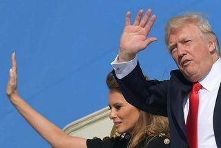 Donald Trump og Melania Trump fóru frá Sikiley í dag. Þar með er lokið fyrstu ...