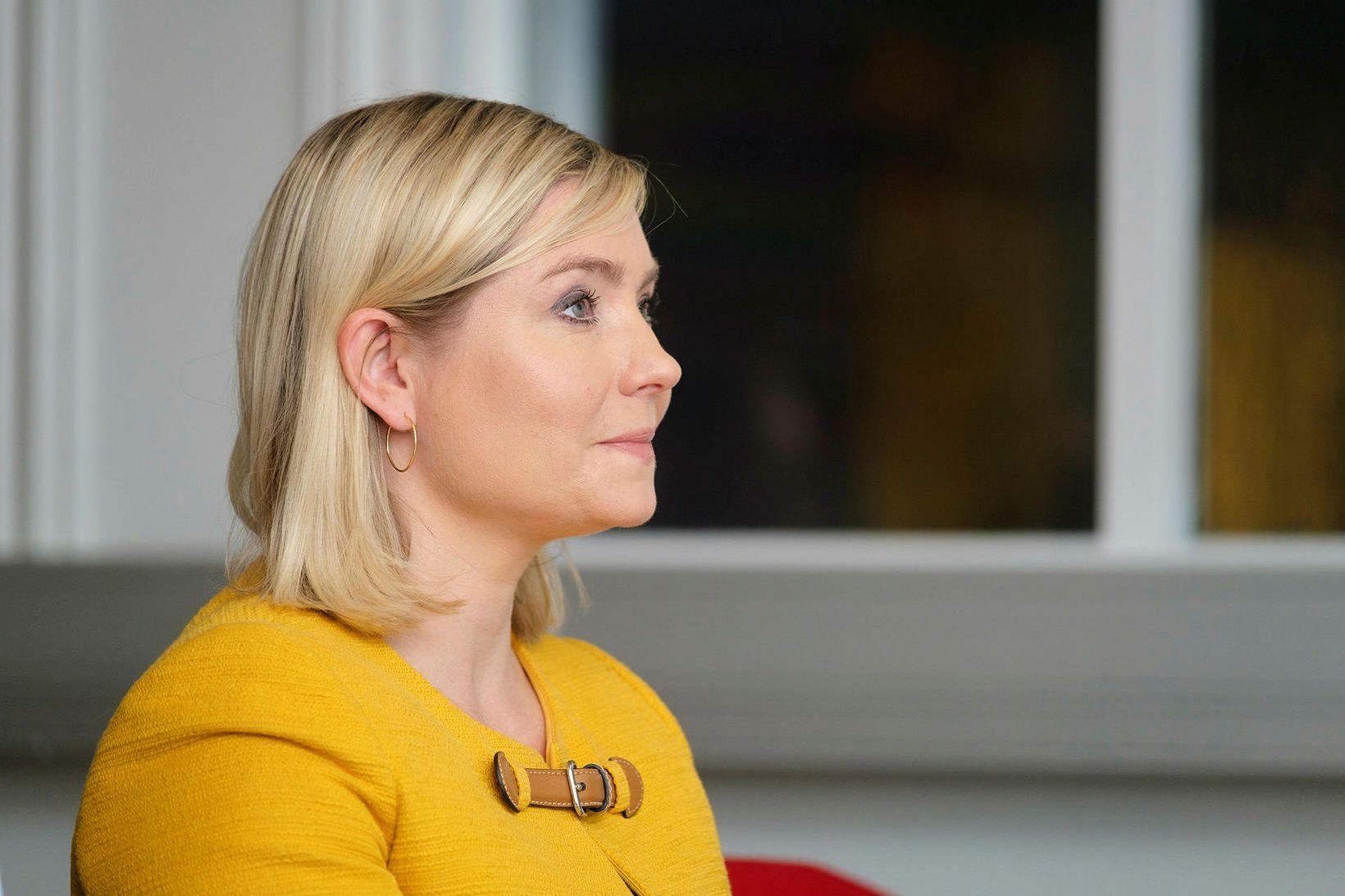 Lilja Alfreðsdóttir fundaði með almannavörnum í dag.