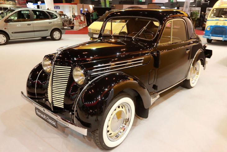 Renault Juvaquatre from 1938 is seen on display at Retromobile