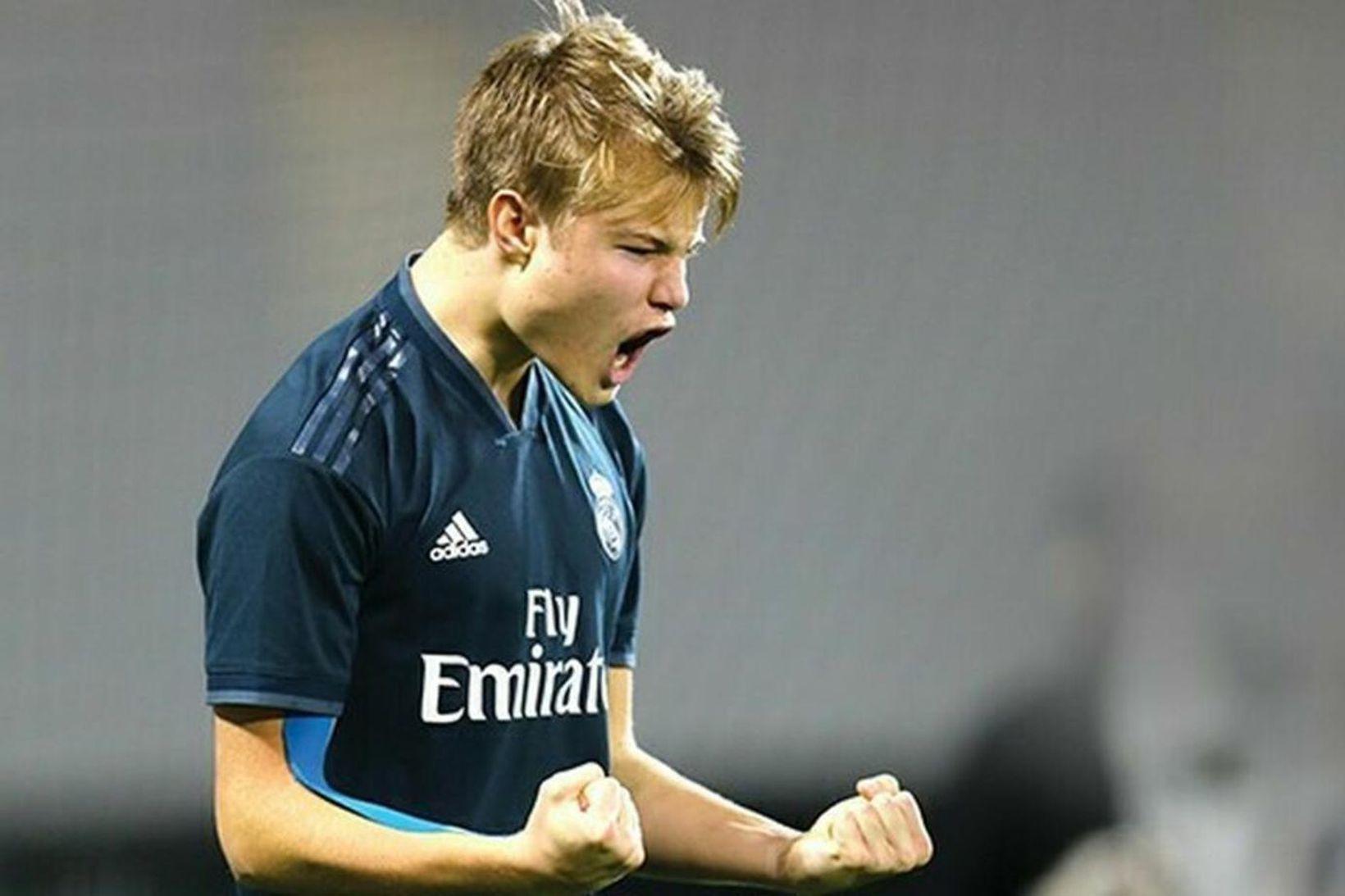 Andri Lucas Guðjohnsen í leik með unglingaliði Real Madrid.